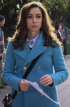 The Mother's sky blue coat on How I Met Your Mother.  Outfit Details: http://wornontv.net/26016/ #HowIMetYourMother