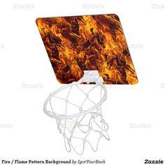 Fire / Flame Pattern Background Mini Basketball Hoops by #IgotYourBack #Basketball #zazzle #Gravityx9