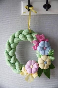 Braided Gingham Wreath