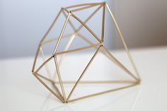 DIY Himmeli Geometric Sculpture with Straws