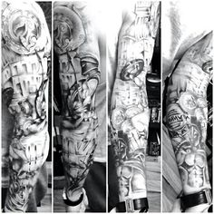 Sleeve tattoo spartan