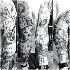 Sleeve tattoo spartan