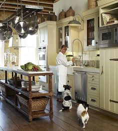 Gourmet Kitchen, Grey & Yellow - Gourmet Kitchen Ideas - The Cottage Market