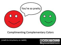 To complement herer's a complimentary compliment between complementary colors. Compliments, Eye, Colors, Pretty, Instagram Posts, Colour, Color, Paint Colors, Hue