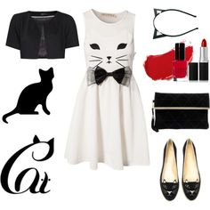 """""""Because cat"""" by underwonder on Polyvore"""
