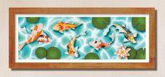 Koi Carpe illustration colour print | Etsy #carpe #japanese #lilies #illustration #prints #etsy Sea Illustration, Illustrations, All Print, Koi, Digital Prints, Modern Art, Original Artwork, Abstract Art, Framed Prints
