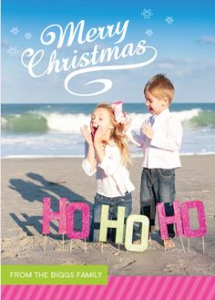 creative christmas card pictures and photo props----Change the HoHo ho to something else Beach Christmas Pictures, Christmas Photo Props, Xmas Pictures, Christmas Photos, Christmas Holidays, Christmas Ideas, Xmas Pics, Coastal Christmas, Holiday Fun