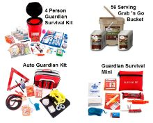 Guardian Preparedness PKG - 4 Person w/Food Storage