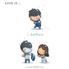 HJ-Story :: Love is. Hj Story, Comics Love, Cute Comics, Cute Love Pictures, Love Images, Cute Love Cartoons, Cute Cartoon, Funny Cartoons, Cute Love Stories