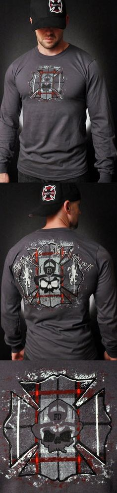 Black Helmet Plaid Fire Long-Sleeved Tee | Shared by LION