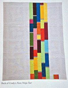Live a Colorful Life: Modern Bee: My Quilt is in a Book!! love that for a back!