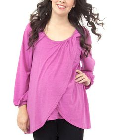 Take a look at this Gerbera Essential Milkbar Maternity & Nursing Top - Women by EGG on #zulily today!