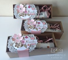 Stampin' Up! - Tag a Bag Gift Boxes, Flower Shop, Petite Petals, Hip Hip Hooray Card Kit - ZoKris