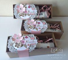 Stampin' Up! - Tag a Bag Gift Boxes, Flower Shop, Petite Petals, Hip Hip Hooray Card Kit - ZoKris
