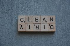 Scrabble Dirty Clean Dishwasher Magnet