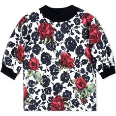 Dolce & Gabbana Blouse ($1,140) ❤ liked on Polyvore featuring tops, blouses, white, dolce gabbana top, white floral top, flower print blouse, floral print blouse and white top