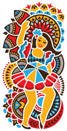 Carnaval Inspiration curated by Little Buddha Art And Illustration, Carnival Posters, Brazil Carnival, Madhubani Art, Doodles Zentangles, Stencil Art, African Design, Doodle Art, Art Images