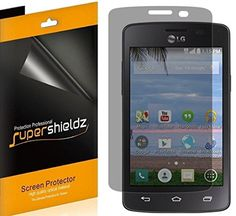 [2 Pack] SUPERSHIELDZ- Privacy Anti-Spy Screen Protector Shield For LG Sunrise   Lifetime Replacements Warranty - Retail Packaging ** Learn more by visiting the image link.