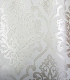 silver on white wall paper