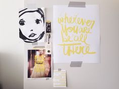 Amy Tangerine's inspiration wall
