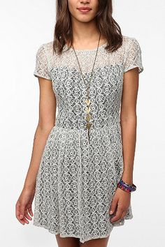 Pins and Needles Geometric Lace Dress