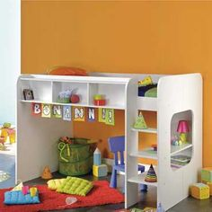 idea for small kid room under the bed can be a reading nook