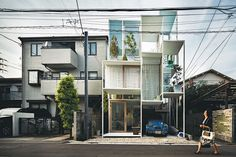 Sou Fujimoto -  With his experimental buildings, the Tokyo-based architect is creating a new breed of hybrid design.   House NA from 2011 has glass walls and a steel structural frame containing a matrix of tiny rectangular rooms and outdoor terraces, each on a separate floor level linked by stairs, ladders, or movable steps. Hemmed in by neighboring homes on three sides and a narrow street in front, the house belongs to a couple clearly at ease with Tokyo's urban condition.