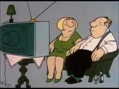 Animated short comedy skit created by German comedy legend Loriot A german couple realizes, that their TV is broken. Fun Video Clips, Comedy Skits, German Language Learning, School Videos, Learn German, Cartoon Gifs, Marlon Brando, Language Activities, Video Film