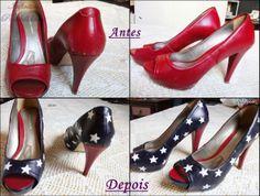 Sapato estrelado - Customização