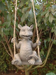 Dragon assis sur balançoire de jardin en forme de gargouille: Amazon.fr: Jardin