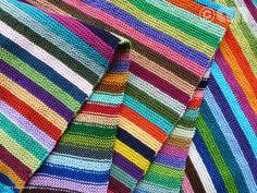 Scarf Stripes -- Good way to get rid of some leftover scrap yarn Knitted Shawls, Knitted Blankets, Crochet Scarves, Knit Crochet, Snood Knitting Pattern, Knitting Yarn, Knitting Patterns, Knitting Designs, Knitting Projects