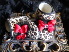 Leopard baby girl boots handcrafted with by TheBabyBellaBoutique, $16.90