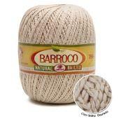 Barbante Barroco Natural Brilho Ouro nº6 700g
