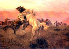 Charles Marion Russell   cowboy heroes. kK