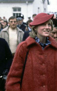 April 3, 1982: Princess Diana at Aintree Racecourse, Merseyside.