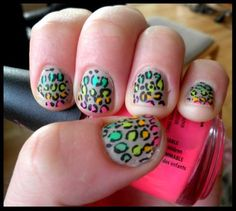 Love this leopard print and changing spots of color