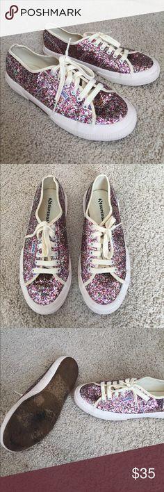 SUPERGA Glitter Shoes Awesome Glitter SUPERGA shoes. Minimal wear. Size 39 Superga Shoes Sneakers