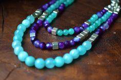 Collier de perles en pierre fine et semi-précieuse par Malacrea