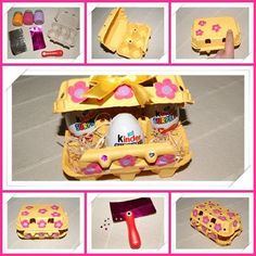 D�co de P�ques avec une bo�te d'oeufs Easter Activities, Lunch Box, Creations, Diy, Recherche Google, Handmade, Scrapbooking, Crafts, Blog