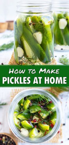 45 reviews · 10 minutes · Vegan Gluten free · Serves 4 · Make your own Refrigerator Pickles overnight! This recipe teaches you how to soak cucumbers in a homemade brine overnight for tasty, crunchy pickles! This vegan, keto, and low-carb recipe is perfect… Making Dill Pickles, Garlic Dill Pickles, How To Make Pickles, Canning Pickles, Pickled Garlic, Homemade Pickles, Zucchini Pickles, Quick Pickle Recipe, New Pickles Recipe