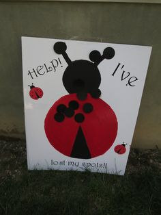 Help I've Lost My Spots.  Pin the spots on the ladybug game for girls first birthday party awesome for smaller kids, the target isnt as small as a tail for a pin the tail on the donkey