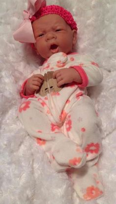 MONKEY GIRL!REBORN PREEMIE BERENGUER DOLL WITH BOTTLE PACIFIER AND EXTRAS CUTEY #BERENGUER