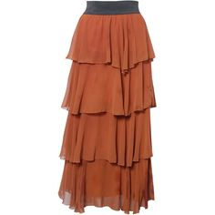 Rare London Ruffle Tier Maxi Skirt ($11) ❤ liked on Polyvore