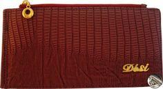 Dámska peňaženka kožená so zipsom, mäkká hadia koža bordová 10151 www.vasepenazenky.sk