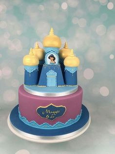 Princess Jasmine Castle Cake