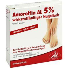 AMOROLFIN AL 5 prozent wirkstoffhaltiger Nagellack:   Packungsinhalt: 3 ml Wirkstoffhaltiger Nagellack PZN: 09091228 Hersteller: ALIUD…