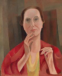 Alice Bailly (Swiss, 1872 - 1938): Self-portrait (1928) (via Swiss Institute for Art Resarch)