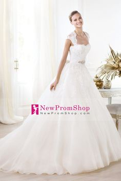 Like the shoulders only about $200 2014 New Arrival Sweetheart A Line Organza Wedding Dresses Court Train Appliqued And Beaded