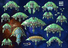 Stars in Shadow: Orthin Ships by AriochIV.deviantart.com on @DeviantArt