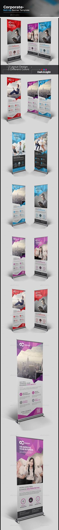 47b74970f1d6 Corporate Roll-up Banner - Signage Print Templates Rollup Display